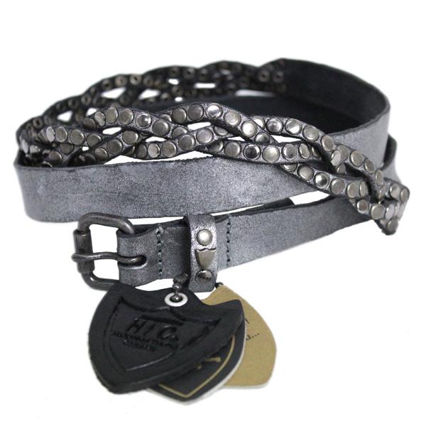 正規取扱HTC EURO(ユーロ) CROSS EASY METAL BELT(スタッズベルト) GUN METAL HE027
