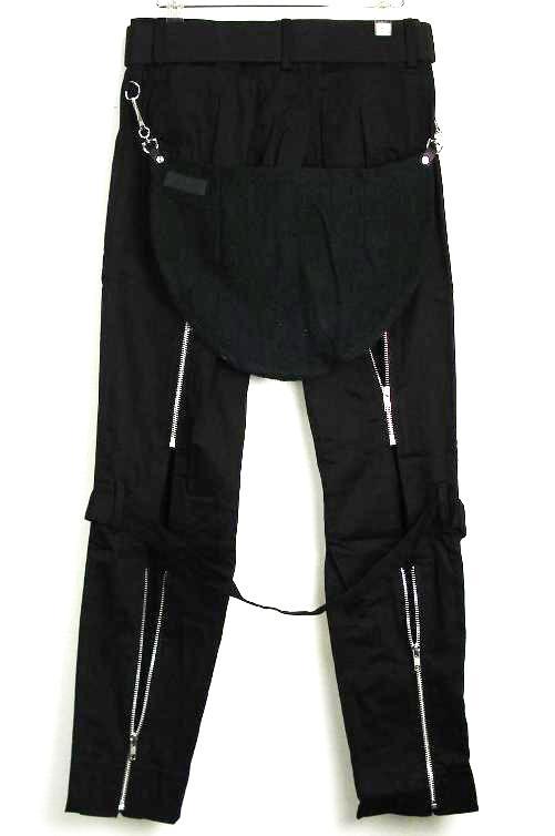 正規取扱店666SEDITIONARIES(セディショナリーズ) Bondage Trousers(ボンデッジトラウザーズ、ボンテージパンツ) 黒 ブラック