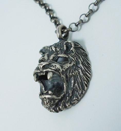"""正規取扱SPEAR(スピアー) 112S-18"""" LION HEAD(ライオンヘッド) Sterling Silver 18インチ"""