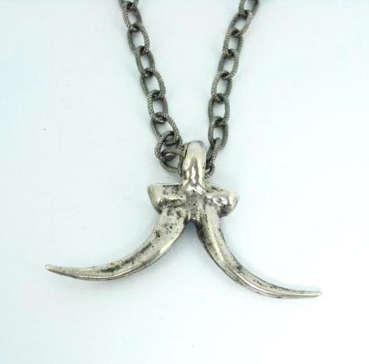 正規取扱 SPEAR(スピアー) 116S Double Horn Nechlace(ダブルホーンネックレス) Sterling Silver 18インチ