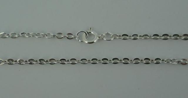 Silver Chain(シルバーチェーン) 3mm Oval Flat Chain(3mmオーバルフラットチェーン)