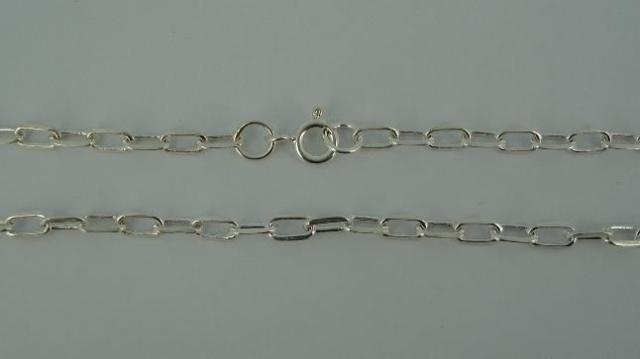 Silver Chain(シルバーチェーン) 6mm Oval Square Flat Chain(6mm オーバルスクエアーフラットチェーン)