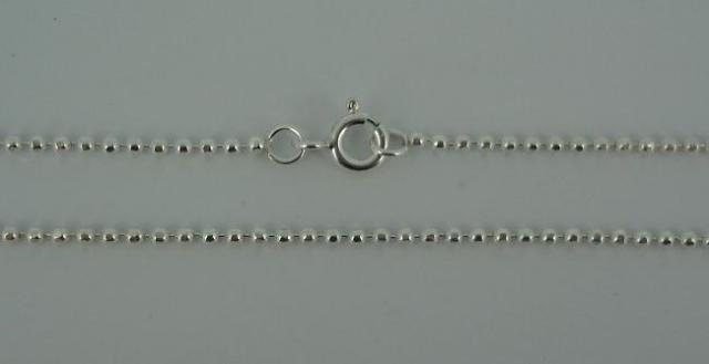 Silver Chain(シルバーチェーン) 1,8mm Square Ball Chain(1,8mm スクエアーボールチェーン)