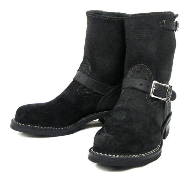 Wescoウエスコ 正規ディーラー Boss ボス  Black Roughout黒裏革,8height,#430 sole,Wesco Buckle,Steel Toe