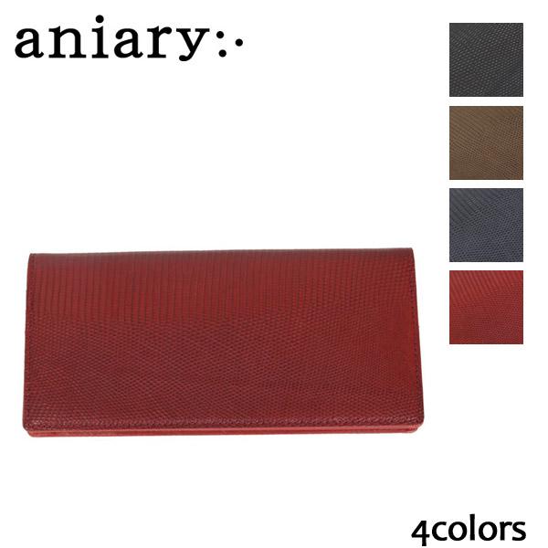 正規取扱店 aniary(アニアリ アニアリー) 92-20001 リアルリザード カバービルホルダーロングウォレット 全4色 AN066