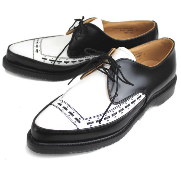 正規取扱店 George Cox(ジョージコックス) 3705(4065) AIR SOLE エアーソール GIBSON ギブソン BLACK x WHITE ブラック x ホワイト