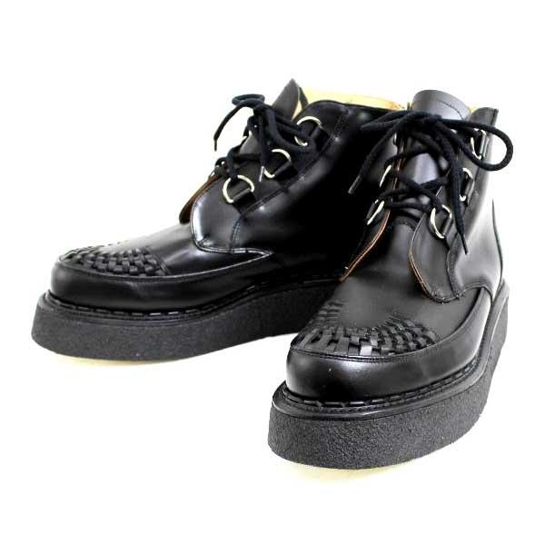 正規取扱 George Cox(ジョージコックス)  13327 VI Sole  CHUKKA チャッカ  Black Leather ブラックレザー