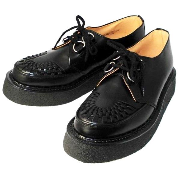正規取扱店 George Cox(ジョージコックス) ラバーソール 3588 VI-sole ブラックレザー 黒革