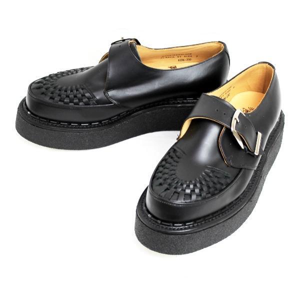 正規取扱店 George Cox (ジョージコックス) ラバーソール ALASKA VI Sole MONK アラスカモンク Black Leather ブラックレザー