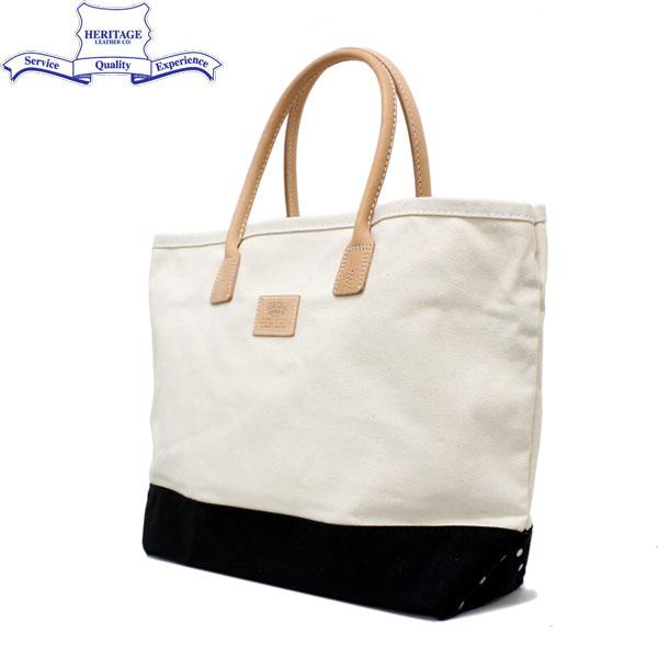 正規取扱店 HERITAGE LEATHER CO.(ヘリテージレザー) NO.7717 Tote Bag(トートバッグ) Natural/Black HL001