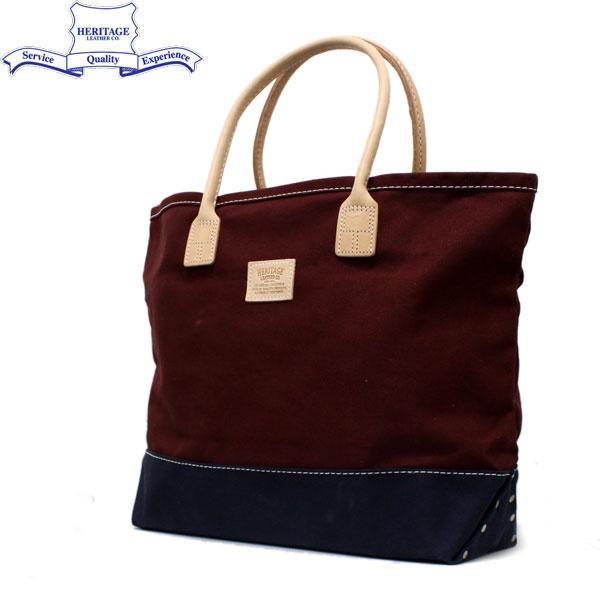 正規取扱店 HERITAGE LEATHER CO.(ヘリテージレザー) NO.7717 Tote Bag(トートバッグ) Burgundy/Navy HL033