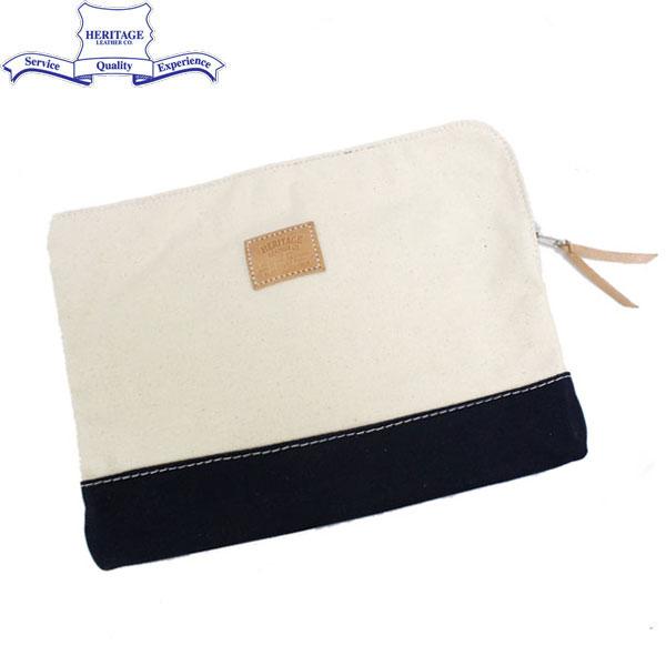 正規取扱店 HERITAGE LEATHER CO.(ヘリテージレザー) NO.8008 Clutch Bag(クラッチバッグ) Natural/Navy HL037