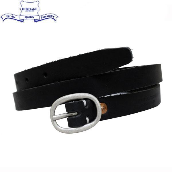 """正規取扱店 HERITAGE LEATHER CO.(ヘリテージレザー) NO.7932 0.75""""Leather Belt (0.75インチ レザーベルト) Black HL042"""