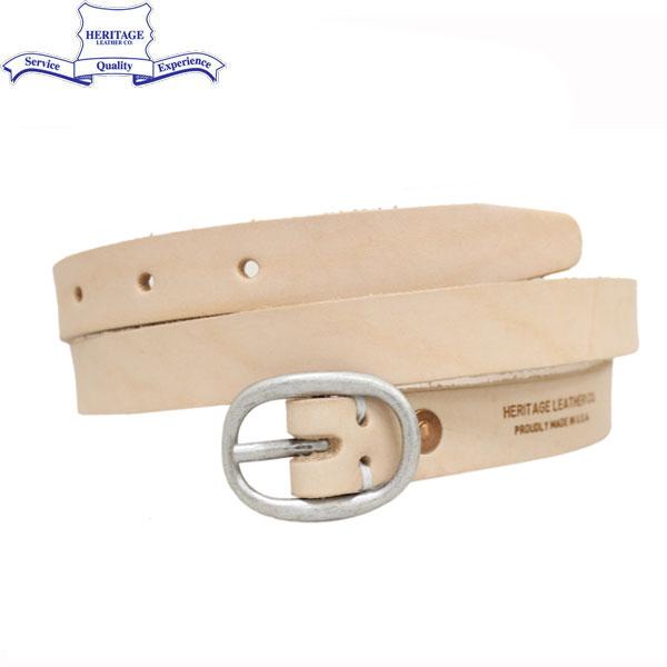 """正規取扱店 HERITAGE LEATHER CO.(ヘリテージレザー) NO.7932 0.75""""Leather Belt (0.75インチ レザーベルト) Natural HL043"""