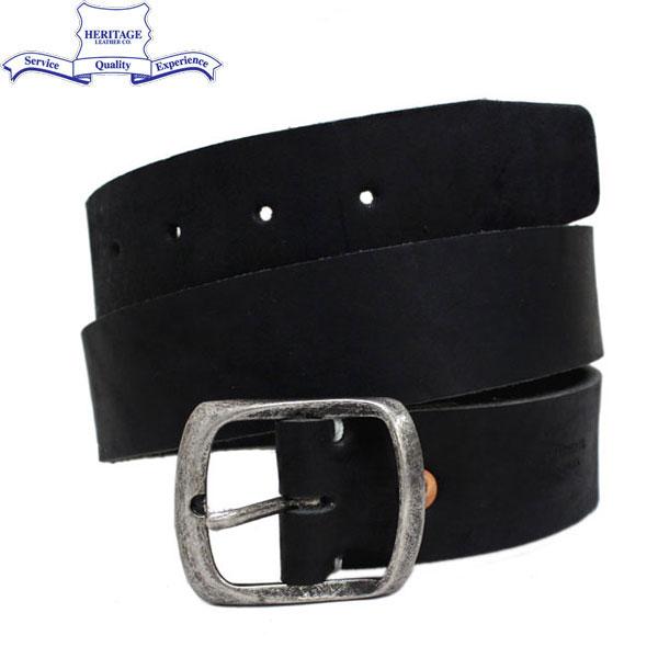 """正規取扱店 HERITAGE LEATHER CO.(ヘリテージレザー) NO.7931 1.5""""Leather Belt (1.5インチ レザーベルト) Black HL045"""