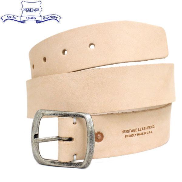 """正規取扱店 HERITAGE LEATHER CO.(ヘリテージレザー) NO.7931 1.5""""Leather Belt (1.5インチ レザーベルト) Natural HL046"""