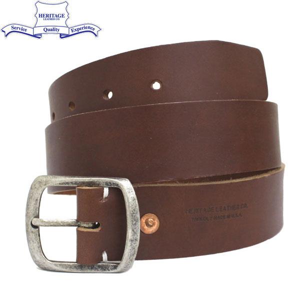 """正規取扱店 HERITAGE LEATHER CO.(ヘリテージレザー) NO.7931 1.5""""Leather Belt (1.5インチ レザーベルト) Brown HL047"""