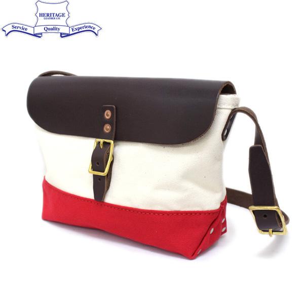 正規取扱店 HERITAGE LEATHER CO.(ヘリテージレザー) NO.8036 Mini Shoulder Bag(ミニショルダーバッグ) Natural/Red HL049