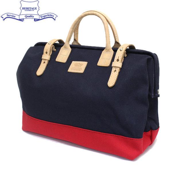 正規取扱店 HERITAGE LEATHER CO.(ヘリテージレザー) NO.7725 Mason Bag(メイソンバッグ) Navy/Red HL080