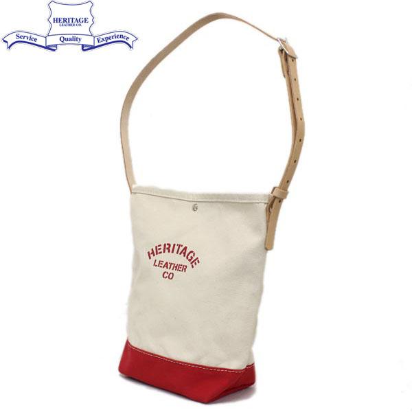 正規取扱店 HERITAGE LEATHER CO.(ヘリテージレザー) NO.8105 Mason Bag(メイソンバッグ) Natural/Red HL094