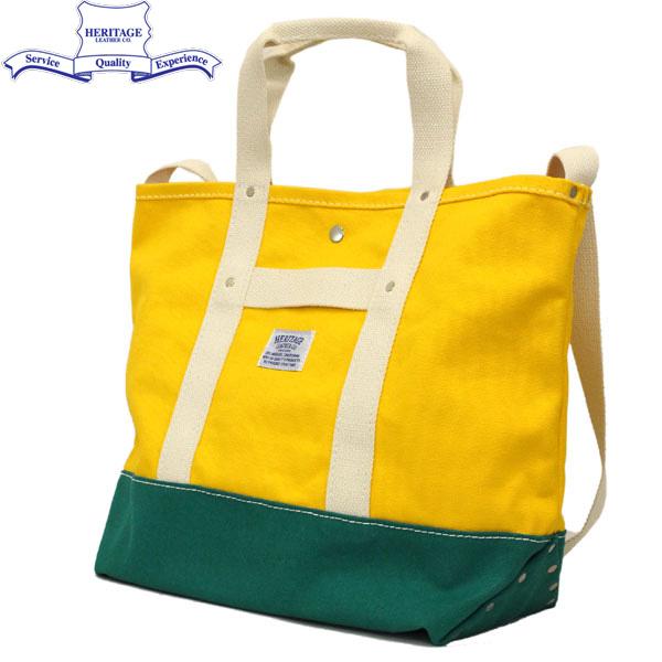 HERITAGE LEATHER CO.(ヘリテージレザー) NO.8093 Cotton Webbing Canvas Bag(コットンウェビングキャンバスバッグ) Yerrow/Green HL133