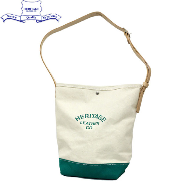 HERITAGE LEATHER CO.(ヘリテージレザー) NO.8105 Bucket Shoulder Bag(バケットショルダーバッグ) Natural/Green HL138