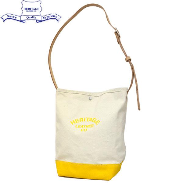 HERITAGE LEATHER CO.(ヘリテージレザー) NO.8105 Bucket Shoulder Bag(バケットショルダーバッグ) Natural/Yerrow HL139