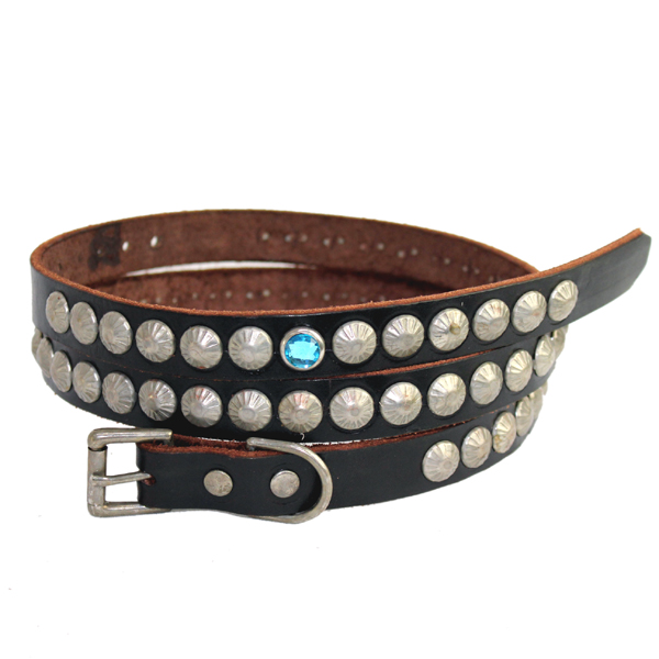 正規取扱HTC(Hollywood Trading Company) #WHEEL SILVER STUDS BELT シルバータッズベルト BLACK LEATHER ブラックレザー