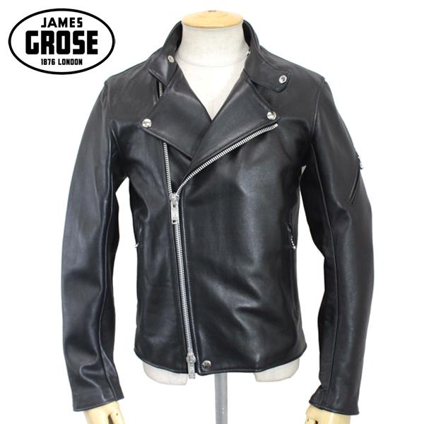 正規取扱店 JAMES GROSE(ジェームスグロース) MEN'S RICARDE JACKET(メンズリカードジャケット) BLACK ブラック JG005
