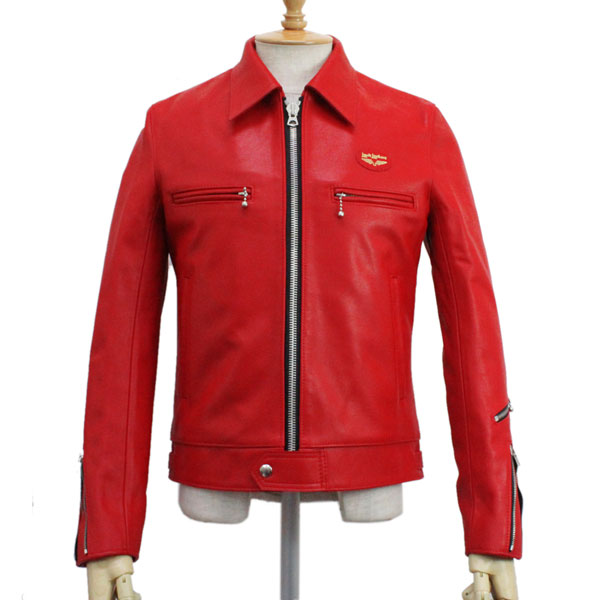 正規取扱店Lewis Leather(ルイスレザー) No.551T DOMINATOR TIGHT FIT(ドミネータータイトフィット) RED レッド