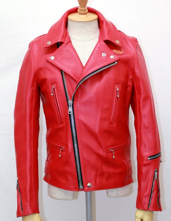 正規取扱店Lewis Leather(ルイスレザー) No.402T LIGHTNING TIGHT FIT(ライトニング タイトフィット) RED レッド
