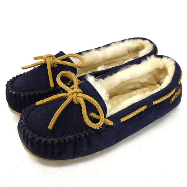 正規取扱店 MINNETONKA(ミネトンカ) Sheepskin Pippa Slipper(シープスキンピッパスリッパ) #42024 DARK NAVY レディース MT367