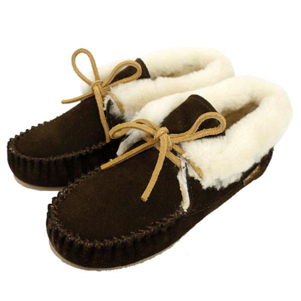 正規取扱店 MINNETONKA(ミネトンカ) Sheepskin Piper Bootie(シープスキンパイパーブーティ) #42722 CHOCOLATE レディース MT370
