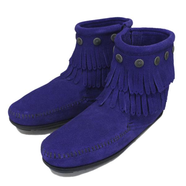 MINNETONKA(ミネトンカ) Double Fringe Side Zip Boot(ダブルフリンジサイドジップブーツ) #699F BLUE VIOLET レディース MT357