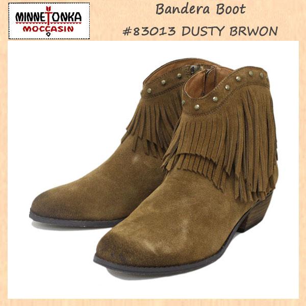 正規取扱店 MINNETONKA(ミネトンカ) Bandera Boot(バンデラブーツ) #84010 DUSTY BROWN レディース MT238