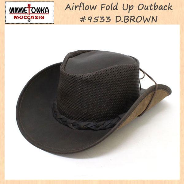 正規取扱店 MINNETONKA(ミネトンカ) Airflow Fold Up Outback Hat(エアフローフォールドアップアウトバックハット) #9533 D.BROWN MT119