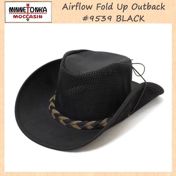 正規取扱店 MINNETONKA(ミネトンカ) Airflow Fold Up Outback Hat(エアフローフォールドアップアウトバックハット) #9539 BLACK MT121
