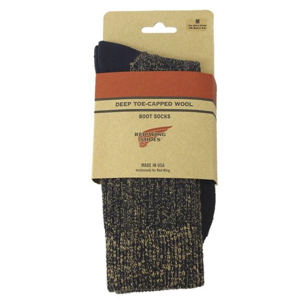 正規取扱店 RED WING(レッドウィング) 97174 Deep Capped Toe Wool Socks(ディープキャップトウールソックス) 靴下 Navy ネイビー