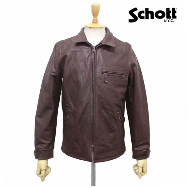 正規取扱店 SCHOTT(ショット) CLASSIC TRACK JACKET(クラシックトラックジャケット) BROWN ブラウン