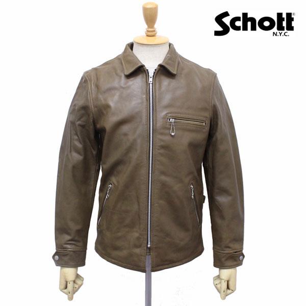 正規取扱店 SCHOTT(ショット) CLASSIC TRACK JACKET(クラシックトラックジャケット) OLIVE オリーブ