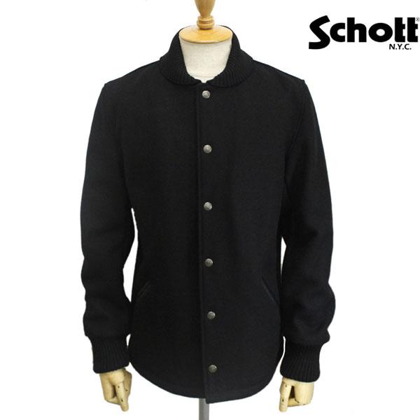 正規取扱店 SCHOTT(ショット) 726US WOOL CAR COAT(ウールカーコート) BLACK