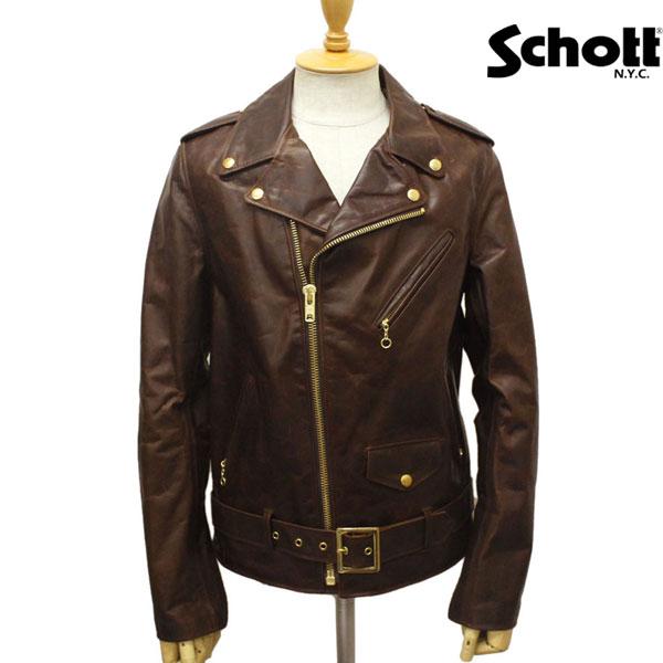 正規取扱店 SCHOTT(ショット) 619 RIDERS JACKET(ライダースジャケット) BROWN