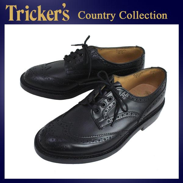 正規代理店 Tricker's トリッカーズ COUNTRY BOURTON(カントリーバーン) BLACK BOX CALF ブラックボックスカーフ
