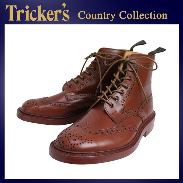 正規取扱店 Tricker's トリッカーズ 2508M COUNTRY BROGUE(カントリーブローグ) ダブルレザーソール マロンアンティーク TK011
