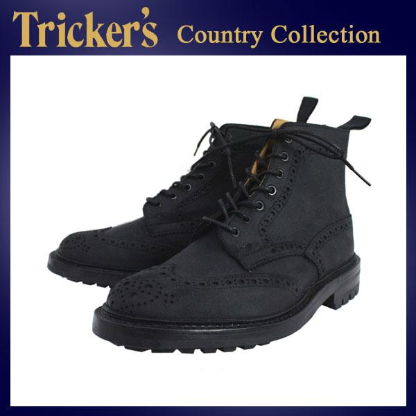 正規取扱店 Tricker's トリッカーズ 2508M COUNTRY BROGUE(カントリーブローグ) コマンドソール ブラックワキシー TK018