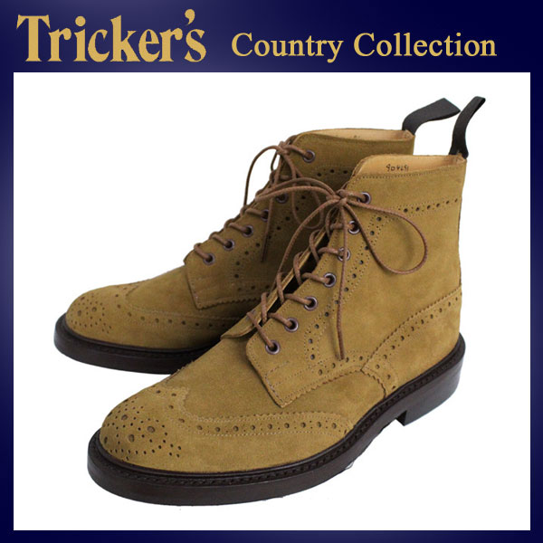 正規取扱店 Tricker's トリッカーズ 2508M COUNTRY BROGUE(カントリーブローグ) ダイナイトソール マラッカジャヌススエード TK027