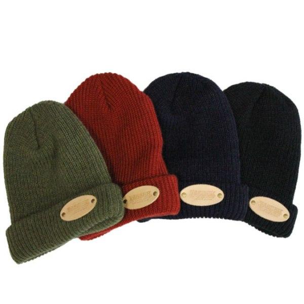 VASSER(バッサー)Oval Leather Patch Knit Cap(オーバルレザーパッチニットキャップ)全4色