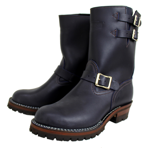 Wescoウエスコ 正規ディーラー Navyネイビーレザー,9height,#100sole,2straps,Nickel Bucles BS70