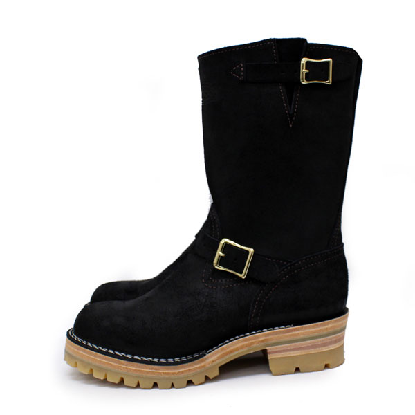 Wescoウエスコ 正規ディーラー Boss ボス Black Roughout,10height,#100HoneySole,Brass Bucles BS75