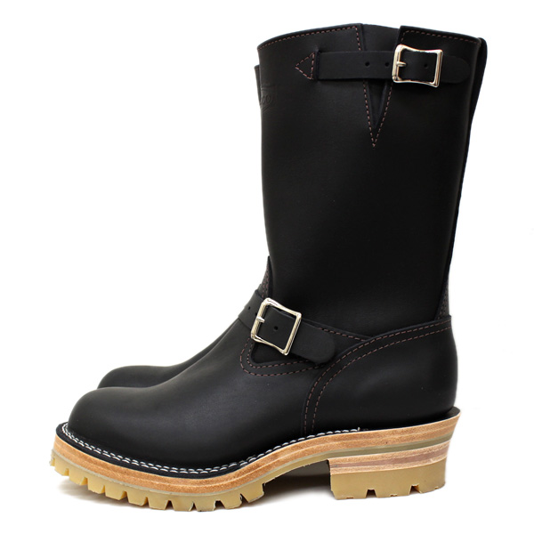 Wescoウエスコ 正規ディーラー Boss ボス Black Leather, 10height, #100HoneySole, Nickel Buckles BS76